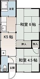 細谷アパート[201号室]の間取り