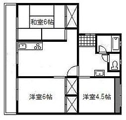 山本第一マンション[202号室]の間取り