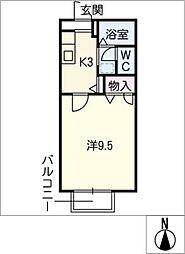 メゾン西橋良[1階]の間取り