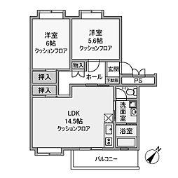 カーサ相模台B棟[2階]の間取り