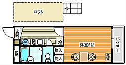シャーマー御崎[206号室]の間取り