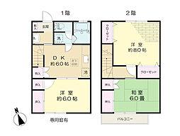 [テラスハウス] 東京都稲城市東長沼 の賃貸【/】の間取り
