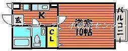 岡山県岡山市中区藤原西町2丁目の賃貸アパートの間取り