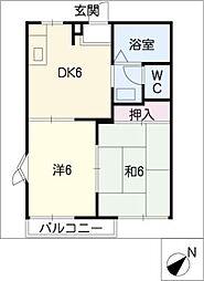 パークサイド平野II[2階]の間取り
