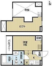 ハレ東雲[2階]の間取り