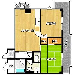 ミタカホーム8番[601号室]の間取り