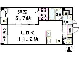 TAGAMIマンション C[302号室]の間取り