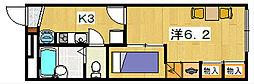 レオパレス フラワーヒルズ[1階]の間取り