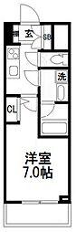 スプランディッドII[802号室]の間取り