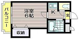 東京都調布市東つつじケ丘3の賃貸マンションの間取り