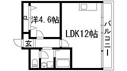 リバーサイド宝塚[1階]の間取り