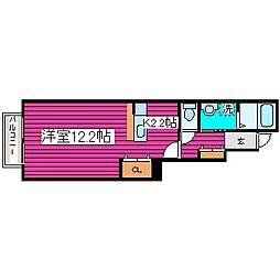 北海道札幌市東区東雁来十四条2丁目の賃貸アパートの間取り