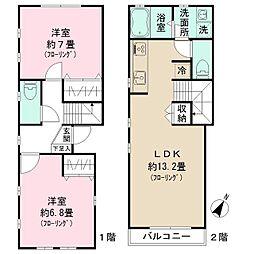 [テラスハウス] 東京都中野区若宮2丁目 の賃貸【/】の間取り