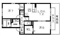 ディアコート91[B101号室号室]の間取り