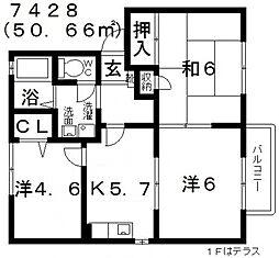 グレイス21[B102号室号室]の間取り