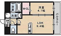 フェアソレイユ 3階1LDKの間取り