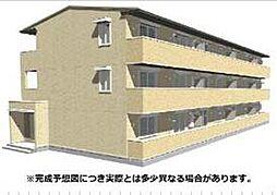 愛媛県松山市中村3丁目の賃貸アパートの外観