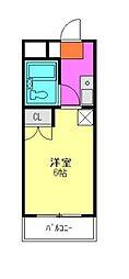 ラムズタカハシ[2階]の間取り