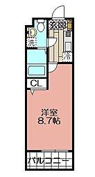エンクレスト警固(706)[706号室]の間取り