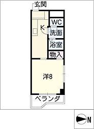 センチュリー材菊[7階]の間取り