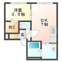 CASA N7[3階]の間取り
