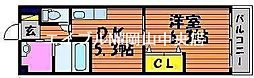岡山県岡山市北区野田5丁目の賃貸マンションの間取り