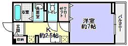 シェルブルー[1階]の間取り