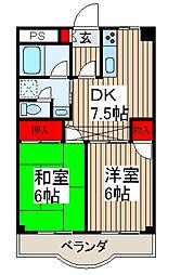 ラポールマンション[302号室]の間取り