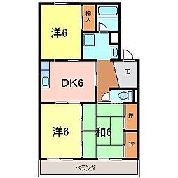 東海ハイツ1[1階]の間取り