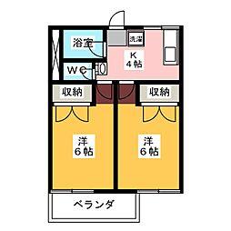 森脇アパート[2階]の間取り