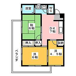 レジデンス下中野 B棟[3階]の間取り