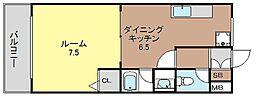 アニマート姫島[502号号室]の間取り