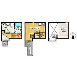 (仮称)アースクエイク白水南棟[2階]の間取り
