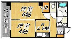 エコノ桜坂8[3階]の間取り