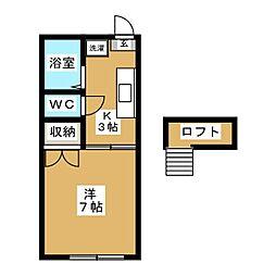 17の3番館[2階]の間取り