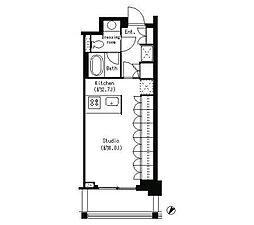 パークキューブ目黒タワー[3階]の間取り