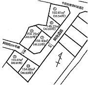 全6区画の分譲地・6号地です。
