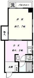 ファミール大和[4階]の間取り