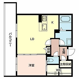 (仮称)堺市堺区シャーメゾン三国ヶ丘[2階]の間取り