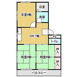愛知県名古屋市港区小碓4丁目の賃貸マンションの間取り
