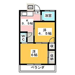 コーポ斉藤[2階]の間取り