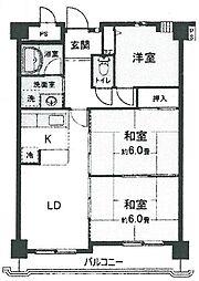 ラフォーレ武庫之荘[302号室]の間取り