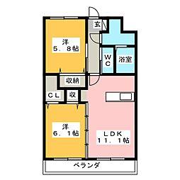 Y&Mガーネット[2階]の間取り