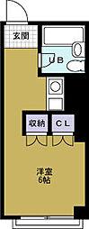 マンション劉[4階]の間取り