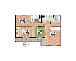 アーバンビレッジ香花園[2階]の間取り