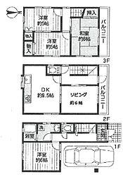 [一戸建] 兵庫県尼崎市塚口町3丁目 の賃貸【/】の間取り