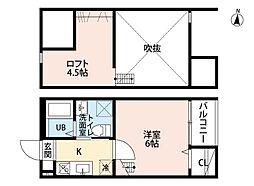 Casa PrincipeII (カーサプリンチペツー)[2階]の間取り