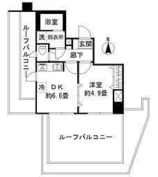 ルート南常盤台[6階]の間取り