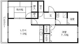 MNR.KOKUBU[201号室]の間取り