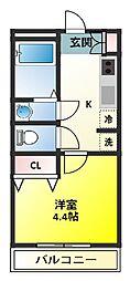 プログレス・カバロ[2階]の間取り